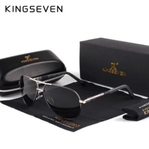 KINGSEVEN Alumínio lentes Polarizadas HD - óculos Vintage Clássico - Coating Lens Driving Shades Masculino
