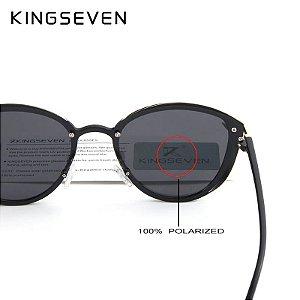 Óculos de Sol olho de gato Leopardo original Kingseven + box acessórios grátis