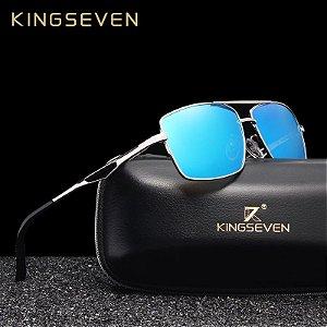 Óculos 2019 Kingseven original N7906 em aço inoxidável - Polarização HD e proteção UV400