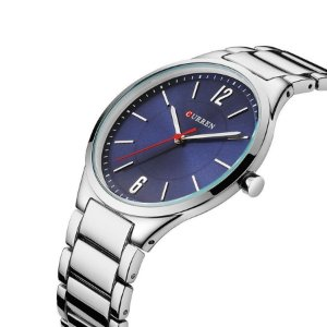 Relógio Masculino Curren Analógico 8280 – Prata e Azul