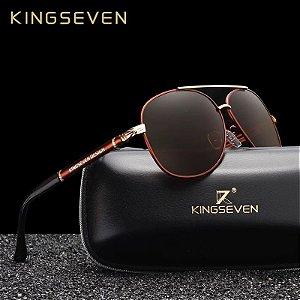 Kingseven NF7210 óculos haste alumínio e magnésio - lentes polarizadas - UV 400