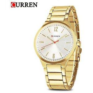 Relógio Masculino Curren Analógico 8280 – Dourado