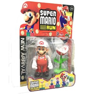 Boneco Super Mário Run - Mário Branco