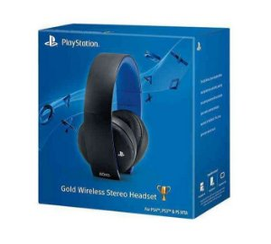 Headset Gold Wireless Stereo Sony