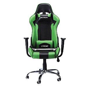 Cadeira Gamer MX7 Giratória Preto/Verde - Mymax