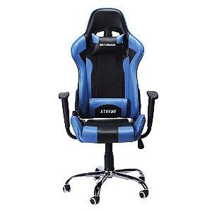 Cadeira Gamer MX7 Giratória Preto/Azul