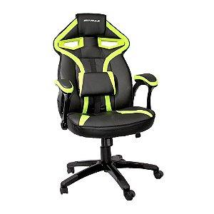 Cadeira Gamer MX1 Giratória Preto/Verde