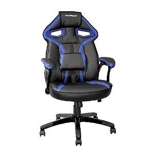 Cadeira Gamer MX1 Giratória Preto/Azul
