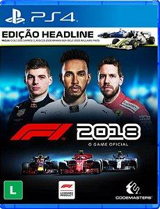 F1 2018 - PS4 - Edição Headline - Lançamento para dia 24 de agosto de 2018