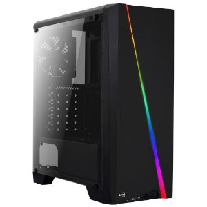 Gabinete Aerocool RGB LED - MID Tower ATX Preto