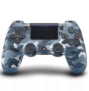 Controle Dualshock 4 Camuflado Azul