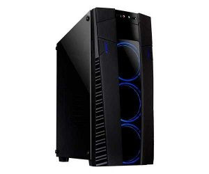 PC Gamer - Intel I7 7700 3.6 Turbo Boost, Placa Mãe ASUS Prime H110M-P, 1 TB HD Seagate, SSD KINGSTON 240GB, Memória RAM 16 (2x8) Dual Chanel DDR 4 2666 Mhz, Fonte de 650 Watts 80 Plus Bronze, Placa de vídeo GTX 1050TI 4GB GDDR5 , Gabinete Mymax Eclipse