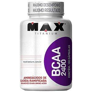 BCAA 2400mg 100 Cáps - Max Titanium