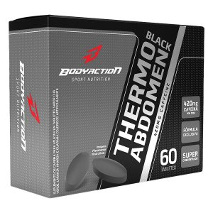 Termogênico Thermo Abdomen Black 60 Tabletes Body Action
