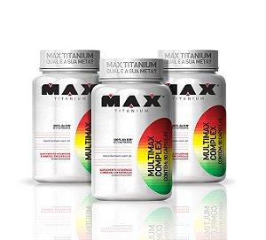Kit 3x Multimax Complex 90 Cápsulas - Max Titanium