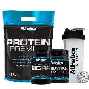 Kit Whey Protein 1,8kg + Bcaa 120cps  - Atlhetica Nutrition