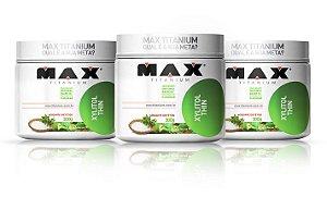 kit 3x Adoçante dietético Xylitol Thin 300g - Max Titanium