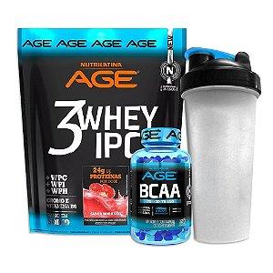 Kit Age - 3Whey Ipc (1,8kg) + Bcaa (120 Caps) - Nutrilatina