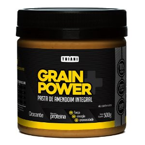 Pasta de Amendoim Integral  Grain Power (500g) - Thiani Alimentos