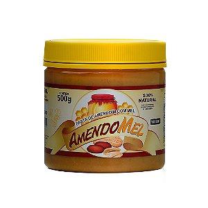Pasta de Amendoim  (Amendoim C/ Mel) 500g - Amendomel