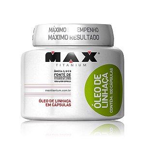 Óleo de Linhaça - Max Titanium - 100 Caps