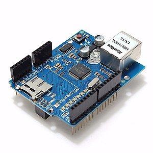 Arduino Ethernet Shield W5100 Rede Wiznet Microcontrolador