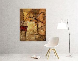 Quadro Decorativo Tela Violinista 100 x 80 cm
