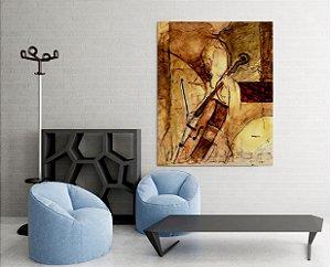 Quadro Decorativo Tela Old Cello 100 x 80 cm