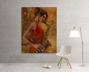 Quadro Decorativo Tela Magnificent 100 x 80 cm