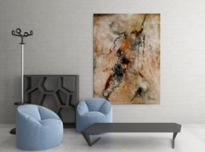 Quadro Decorativo Tela Graceful Creation 100 x 80 cm