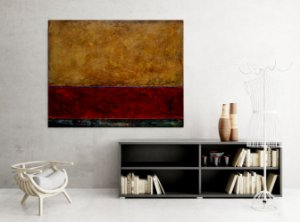 Quadro Decorativo Tela Red Sea 80 x 100 cm