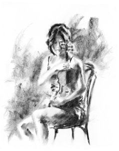 Gravura Fine Art Carvão 001BW 50 x 40 cm