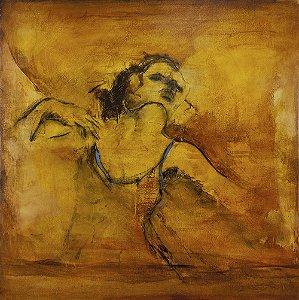 Gravura Fine Art em Papel Algodão A Amada 45 x 45 cm
