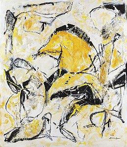 Gravura Fine Art em Papel Algodão Canarinho 50 x 40 cm