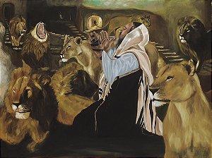 Gravura Fine Art em Papel Algodão Daniel and the Lions 40 x 50 cm