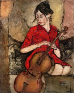 Gravura Fine Art Red Dress 50 x 40 cm