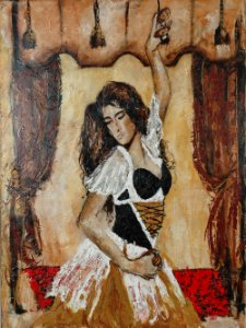Arte Contemporânea Tela Dancer with Passion 80 x 60 cm