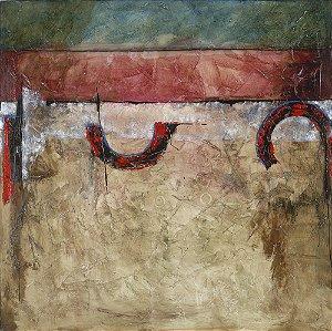Arte Contemporânea Tela Espheras 70 x 70 cm