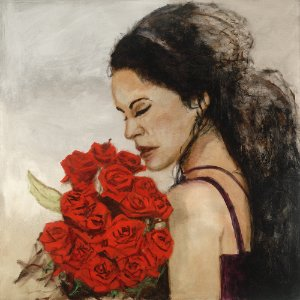 Arte Contemporânea Tela Esther 70 x 70 cm