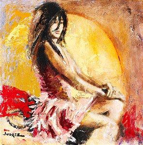Arte Contemporânea Tela Fiona 70 x 70 cm