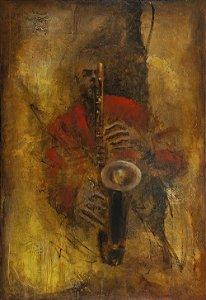 Arte Contemporânea Tela Garota de Ipanema 80 x 55 cm
