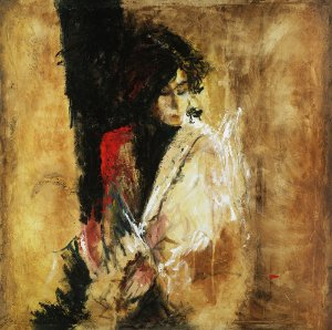 Arte Contemporânea Tela Irene 70 x 70 cm