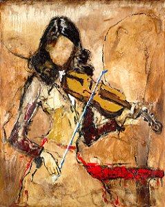 Arte Contemporânea Tela Mayra 80 x 60 cm