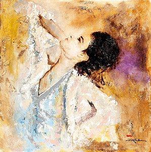 Arte Contemporânea Quadro Decorativo Tela My Eyes 70 x 70 cm