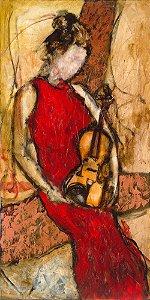Arte Contemporânea Tela Patricia 80 x 40 cm