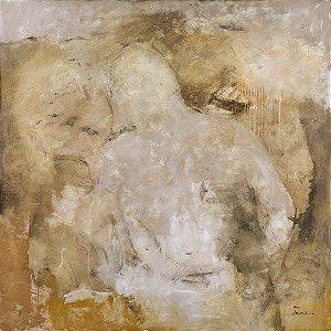Arte Contemporânea Quadro Decorativo Tela Quieta Non Movere 70 x 70 cm