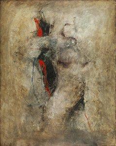 Arte Contemporânea Tela Raio - XH 80 x 60 cm