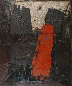 Arte Contemporânea Tela Rock II 80 x 60 cm