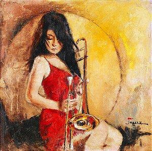 Arte Contemporânea Tela Sabrina 80 x 60 cm