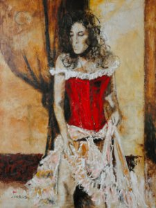 Arte Contemporânea Tela Spanish Dancer 80 x 60 cm